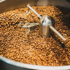 roasted coffee cooling
