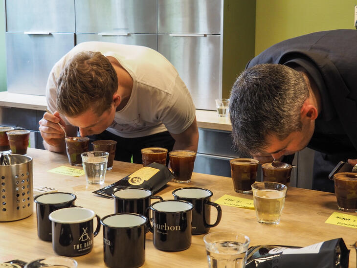 Cupping coffee with Tim Wendelboe