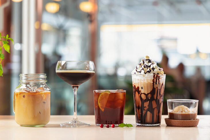 different cold brew coffee drinks