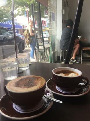 Cappuccino and affogato at South Island's Queenstownis Vudu Cafe